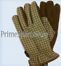 REAL LEATHER AND 100% WOOL GLOVES MEN'S SIZE M - L - XL Large Medium