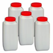5er Pack Schraubflasche 1 Liter Weithalsflasche Plasteflasche