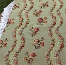 """Antique French c1920 Woven Floral Tapestry Curtain Panel~L-134""""X W-38"""""""