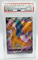 Pokemon Champion Path ETB Promo Card Charizard V Full Art SWSH050 PSA10 GEM MINT