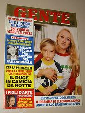 GENTE=1983/9=ELEONORA GIORGI=ROSETTA PIZZO=BERNARD HALL=ALICICCO AS ROMA=SABA U.