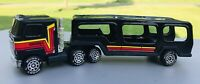 VINTAGE 1980 BUDDY L TRACTOR TRAILER BLACK SEMI TRUCK CAR CARRIER