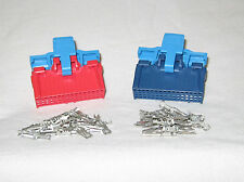 GM TBI ECM Red and Blue Connector Set  for 16196395 16197427 with Terminals