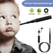 3 In 1 3.9MM Ear Cleaning Endoscope Ear Spoon Borescope HD For Android PC Huawei