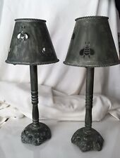 """2 Metal Bee Candle Holder 17"""" High French Country Farmhouse"""
