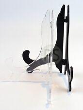 Présentoire Assiette - Noir & Transparent Classique : Carte, Photo, Trophée
