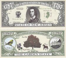 New Jersey NJ State Quarter Design Novelty Bill # 100