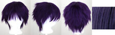 11'' Short Messy Spiky Plum Purple Synthetic Cosplay Wig New