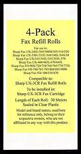 4-pack UX-3CR Fax Refill Rolls for Sharp UX-330L UX-335L UX-340 UX-340L UX-340LM