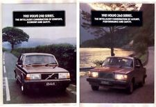 Two 1981 VOLVO 240 & 260 Series Australian 6 Page Brochures