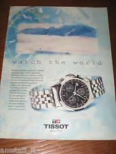 *AO43=TISSOT OROLOGIO WATCH=PUBBLICITA'=ADVERTISING=WERBUNG=COUPURE=