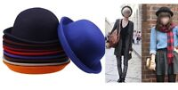 Classic Style Vintage Lady Vogue Women Men Wool Cute Trendy Bowler Derby Hat