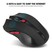 2400DPI Gaming Mouse 2.4G Wireless Rechargeable Computer Mice Adjustment DPI SLS