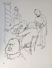George Grosz Berlin Hotel Esplanade Zigarre Luxus Champagner Lobby Karikatur