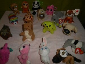 Beanie Boo's / Lot Assorted Miniature Plush / Lot of 18/ TY Beanies & More
