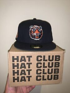 59fifty Hat Club exclusive 7 3/4 Detroit Tigers Coked Stadium Patch Fitted Navy