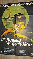 LES REQUINS DE HAUTE MER  sous-marin ! affiche cinema 1962
