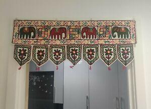 Hippie Indian embroidered toran door valances wall hanging Elephant Home Decor