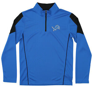 Outerstuff Youth NFL Detroit Lions Lightweight 1/4 Zip Pullover