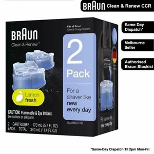 Braun Clean and Renew 2x Cartridges Cleaning Replacements CCR2 CCR4 CCR6