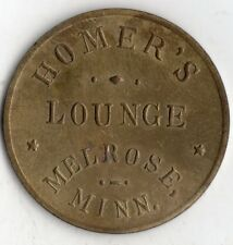 MELROSE MINNESOTA HOMER'S LOUNGE 50¢ GOOD FOR TRADE TOKEN