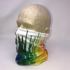 Tie Dye Paint Drip Rainbow Multi Function Head Wear Neck Gaiter Face Mask Scarf