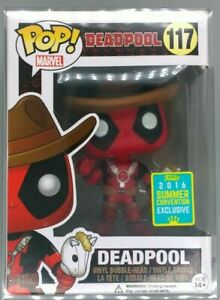 #117 Deadpool (Cowboy) Marvel 2016 Con Limited Vaulted Funko POP - Inc Protector