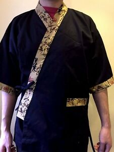 Chef Coat Jacket Sushi Restaurant Kimono Japaneses Uniform Unisex