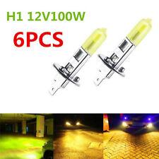 6pcs H1 12V/100w Hyper Yellow 3000K Halogen HID High Beam Light Bulbs Headlight