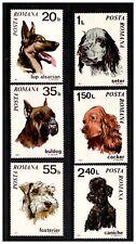 POSTA ROMANA ROMANIA 1971 DOGS SET 6 MINT NEVER HINGED POODLE ALSATIAN SPANIEL