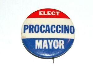 1969 Mario Procaccino NYC MAYORAL MAYOR campaign pin pinback political button