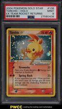 2004 Pokemon EX Team Rocket Returns Gold Star Holo Torchic #108 PSA 9 MINT