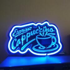 "3D Carved Neon Sign 14"" Coffee Espresso Cafe Coffee Light Bar Artwork Lamp Decor"