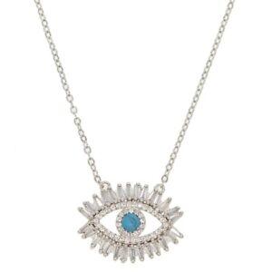 third eye necklace mystical jewelry Hamsa Necklace spiritual jewelry bronze necklace