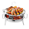 Mini Barbecue Grill Portable Camping Garden Outdoor Folding Travel Charcoal Rack