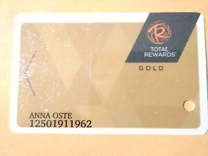CAESARS HOTEL CASINO LAS VEGAS,  NEVADA GOLD TOTAL REWARDS LOGO SLOT CARD!