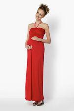 Ladies Maternity Summer Maxi Dress Halter Neck Long Tunic Plus Sizes 8-18 FM24