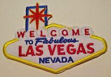 "Welcome To Las Vegas Aufnäher ~Bestickt~ 7.9cm X 2 7/8 ""~ Iron Or Nähen ~ Gratis"