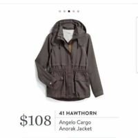 41 Hawthorn Stitch Fix Angelo Anorak Cargo Utility Jacket Medium Gray NWOT $108