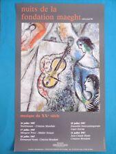 CHAGALL Marc Affiche originale 87 La Vie Musique Violoniste Ecole de Paris
