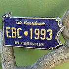 Erie Brewing Co Pennsylvania License Plate Tin Tacker Metal Beer Sign