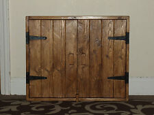 RUSTIC ANTIQUE STYLE SOLID WOOD WALL CUPBOARD SHELF KITCHEN/BATHROOM HANDMADE