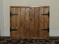 RUSTIC stile antico legno massello Muro Armadio Scaffale Cucina / Bagno fatto a mano