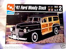 Vintage 1941 Woody Stock 1:25 Model Car Kit AMT ERTL