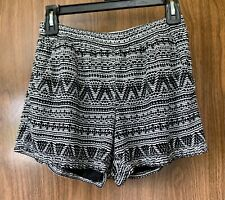BeBop Black and White Shorts Size Small w/ Pockets