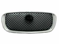 Black Jaguar XFR /& XF Supercharged Mesh Hood Louver Grilles Bright Stainless
