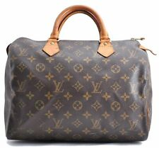 Authentic Louis Vuitton Monogram Speedy 30 Hand Bag M41526 LV A2498