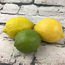 Rubber Fruit Lot Of 3 Lemons Limes Heavy Bar Or Kitchen Decor