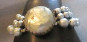 Bracelet Miriam Haskell Vintage Faux Gray Pearls