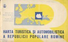 Turism Carpati Touristen Autofahrer Karte der Volksrepublik Rumänien 1960